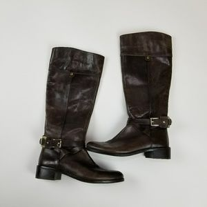 Vince Camuto Brown Leather Boots Women's Size 8.5